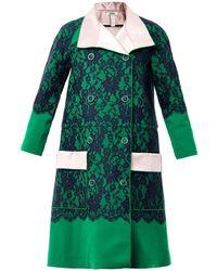 Erdem Fleur Lace Evening Coat green - Lyst