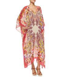 Etro Paisley Floral Silk Caftan - Lyst