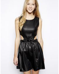Edit Quilted Dress with Cut Out Detail - Lyst