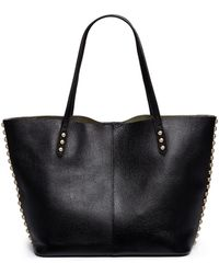 Rebecca Minkoff 'Unlined' Stud Trim Leather Tote - Lyst