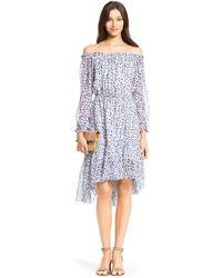 Diane von Furstenberg Dvf Camila Chiffon Dress animal - Lyst