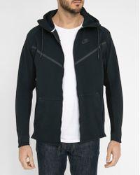 Nike | Black Techfleece Windrunner Zipped Sweatshirt | Lyst