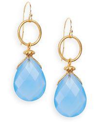 Nunu - Blue Chalcedony Teardrop Earrings - Lyst