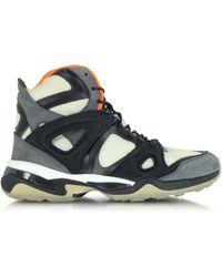 Alexander McQueen X Puma - White Orange And Black Mcq Run Mid Men S Sneaker  - Lyst 4abb10dc4