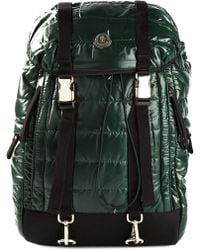 Moncler Green Padded Backpack - Lyst