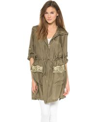 Marchesa Voyage | Embroidered Parka | Lyst