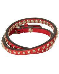 Valentino Garavani Valentino Garavani Rockstud Double Bracelet - Red