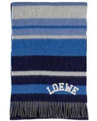 Loewe Wool Scarf - Blue