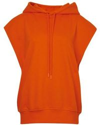 Courreges Sleeveless Hoodie - Orange