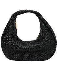 Bottega Veneta The Jodie Bag In Intrecciato Lambskin - Black