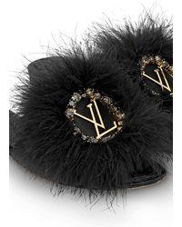 Louis Vuitton LV Marilyn Flat Pantolette - Schwarz