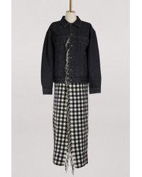 Balenciaga - Long Denim Jacket - Lyst
