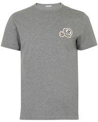 Moncler Kurzärmeliges T-Shirt - Grau