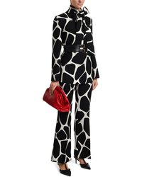 Valentino Trousers With A Graphic Motif - Black