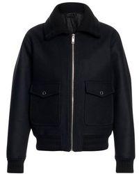 Givenchy Veste zippée à logo - Noir
