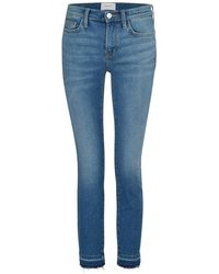 Current/Elliott The Stiletto High-waisted Slim Jeans - Blue