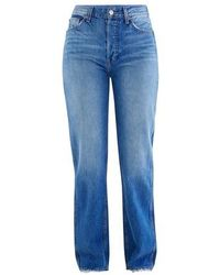 RE/DONE High Rise Loose Jeans - Blue