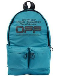 Off-White c/o Virgil Abloh Logo-printed Backpack - Blue