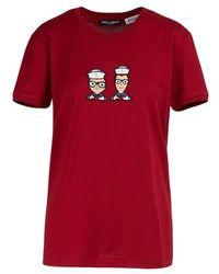 Dolce & Gabbana T-shirt Designers Sailors - Rouge
