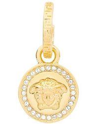 Versace Medusa Crystal-embellished Drop Earrings - Metallic