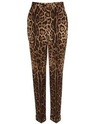 Dolce & Gabbana Wool Pants - Brown