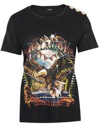 Balmain T-shirt imprimé - Noir