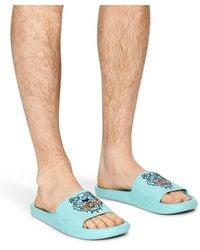 KENZO Sandales Tiger - Bleu