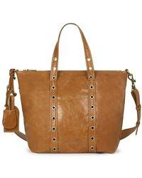 Vanessa Bruno Small Crinckled Leather Zippy Bag - Brown