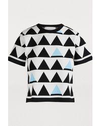 Rudi Gernreich Short-sleeved Triangle T-shirt - Blue