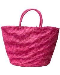 Sensi Studio Grand sac en paille - Multicolore