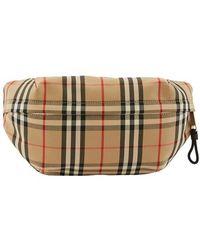 Burberry Vintage Check Belt Bag - Natural