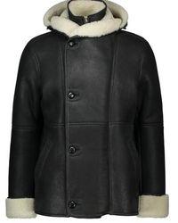 Loewe Shearling Coat - Black