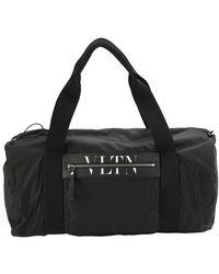 Valentino Vltn Boston Nylon Bag - Black