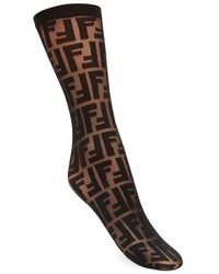 Fendi Socks - Brown