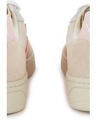 Veja 'V-10' Sneakers in Colour-Block-Optik - Pink