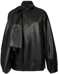 Maison Margiela Faux Leather Jacket - Black