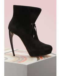 Alexander McQueen - Suede Ankle Boots - Lyst