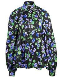 Balenciaga Bell Sleeve Blouse - Black