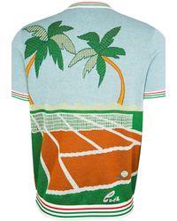 CASABLANCA Deuce Birds Eye Knit T-shirt - Green