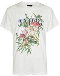 Amiri T-Shirt Psychedelic - Blanc