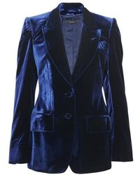 Tom Ford Velvet Jacket - Blue