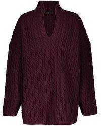 Balenciaga - Pull col v en laine - Lyst