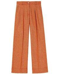 Momoní Nefti Pants In Stretch Wool - Orange