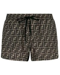 Fendi Swim Shorts - Brown