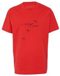 Givenchy T-shirt oversize - Rouge