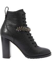 Jimmy Choo 'cruz' Heeled Ankle Boots Black