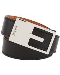 Loewe Buckle Bracelet - Black