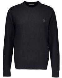 Acne Studios Face Crew Neck Sweater - Black