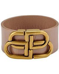 Balenciaga Bb Large Bracelet - Natural