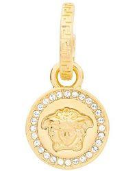 Versace Boucles d'oreilles à pendants en cristaux Medusa - Métallisé